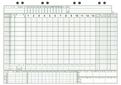 野球 スコア ブック 用紙