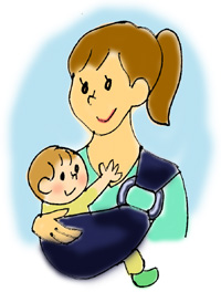 赤ちゃんを抱っこしていると腰に疲れがたまるものです