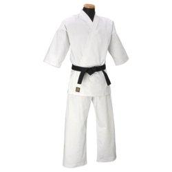 画像1: 《マーシャルワールド》純白ストレッチフルコンタクト空手衣(白帯付)