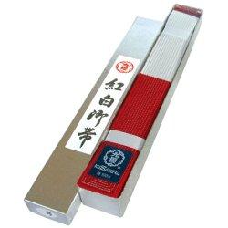 画像1: 《九櫻》フェルト芯入競技用紅白帯(化粧箱入)