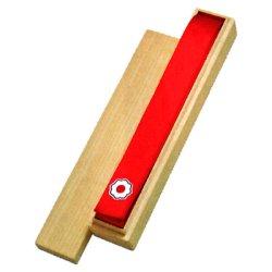 画像1: 《九櫻》本絹赤帯 講道館マーク入